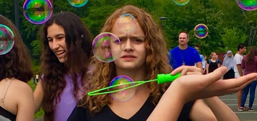 Students enjoy bubble-making, dancing, juggling, and more at ARHS's Community Kick-Off Day in September.