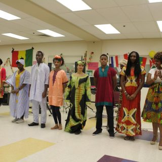 Francophone dinner turns cafeteria into 'museum gallery' of art, food, culture