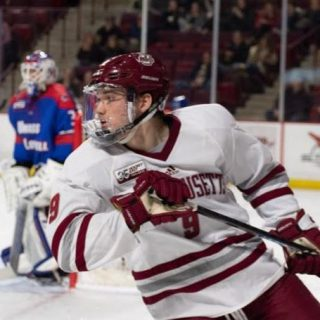 Young UMass hockey team rides historic start into the new year