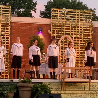 The fields behind the school were alive with The Sound of Music